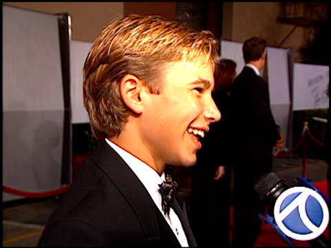 Jonathan Taylor Thomas at the Fire and Ice Ball at Warner Brothers Studios in Burbank California on October 17 1996