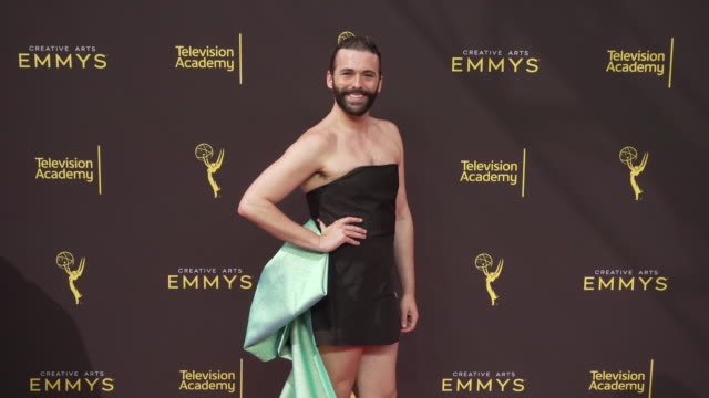 jonathan van ness at the 2019 creative arts emmy awards - day 1 at microsoft theater on september 14, 2019 in los angeles, california. - emmy awards stock videos & royalty-free footage