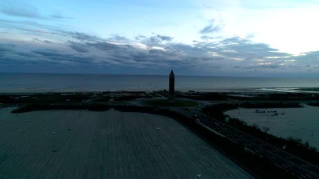 jones beach water tower aerial view - nassau stock videos & royalty-free footage