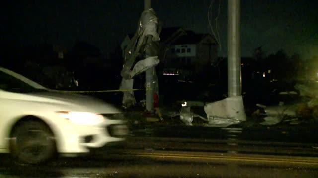 wreg jonesboro ar us roadside damage after tornado strikes jonesboro on sunday mar 29 2020 - blowhole stock videos & royalty-free footage