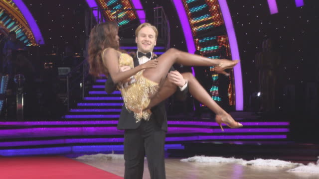 Jonnie Peacock Oti Mabuse at 'Strictly Come Dancing' The Live Tour at Arena Birmingham on January 18 2018 in Birmingham England