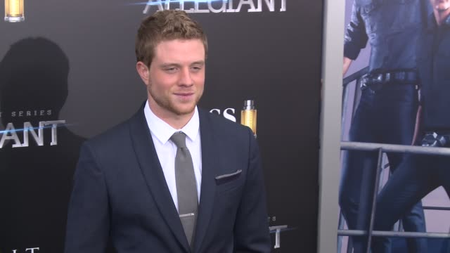 jonny weston at allegiant new york premiere at amc loews lincoln square 13 theater on march 14 2016 in new york city - amc loews stock videos and b-roll footage