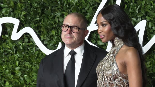 jony ive and naomi campbell at the fashion awards 2019 at royal albert hall on december 2 2019 in london england - naomi campbell stock videos & royalty-free footage