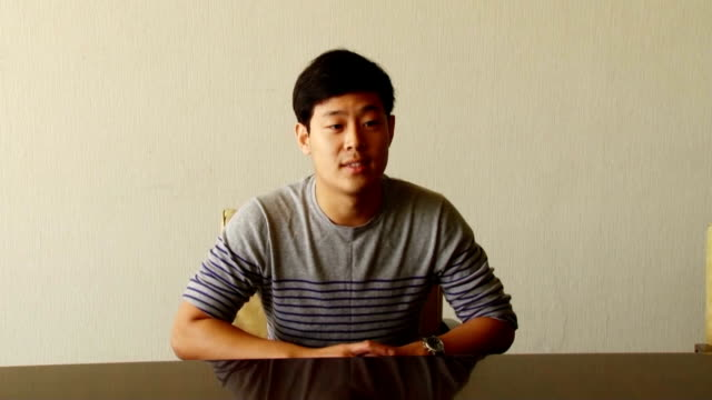 joo won moon a new york university student detained in north korea since april 2015 speaks to foreign media including kyodo news at a hotel in... - new york university stock videos & royalty-free footage