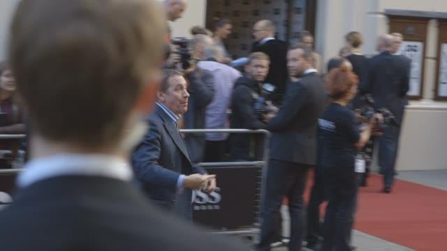 jools holland at celebrity sightings at the gq awards - jools holland stock-videos und b-roll-filmmaterial