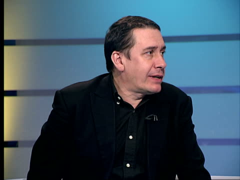jools holland releases album of greatest collaborative hits jools holland interview as music heard in background sot in range of styles he is able to... - cd発売点の映像素材/bロール