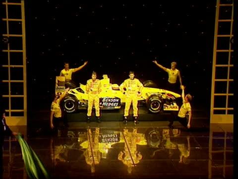 Jordan Car Unveiled ITN ENGLAND London London Palladium Int LMS Damon Hill's new Jordan car unveiled