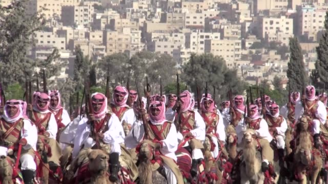 Jordan celebrated 100 years since the Great Arab Revolt sparked by King Abdullah II's great grandfather with a military parade of camel troops...