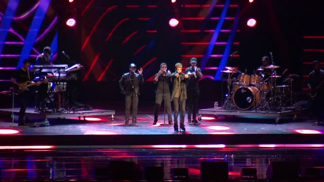 jordan fisher at we day new york welcome to celebrate young people changing the world at radio city music hall on april 06, 2017 in new york city. - radio city music hall stock-videos und b-roll-filmmaterial