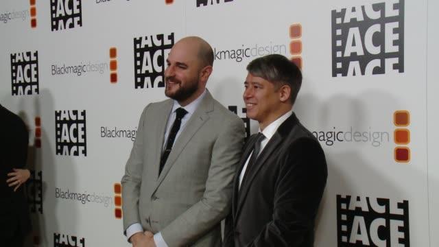 Jordan Horowitz Tom Cross at 67th Annual ACE Eddie Awards in Los Angeles CA