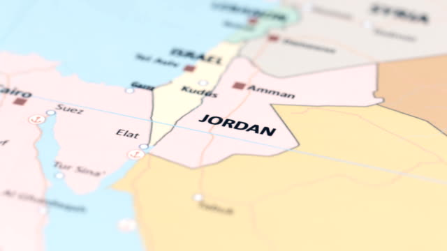 asia jordan on world map - gulf of aqaba stock videos & royalty-free footage