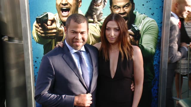 jordan peele and chelsea peretti at keanu los angeles premiere at arclight cinemas cinerama dome on april 27 2016 in hollywood california - cinerama dome hollywood stock videos & royalty-free footage