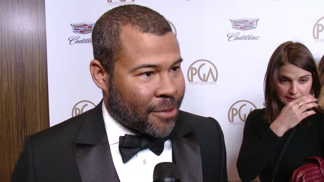 vidéos et rushes de jordan peele at 29th annual producers guild awards presented by cadillac at the beverly hilton hotel on january 20, 2018 in beverly hills, california. - producer's guild of america awards