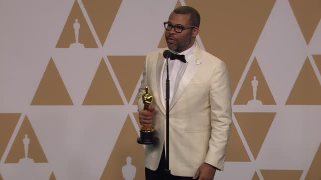 SPEECH Jordan Peele at the 90th Academy Awards Press Room at the 90th Academy Awards Press Room at Dolby Theatre on March 04 2018 in Hollywood...