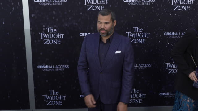 "jordan peele at the premiere of ""the twilight zone' at the harmony gold preview house and theater on march 26, 2019 in hollywood, california. - harmony gold preview theatre stock videos & royalty-free footage"