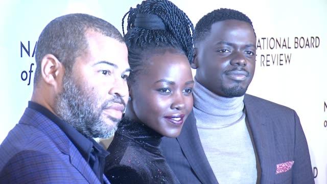jordan peele lupita nyong'o daniel kaluuya at 2018 national board of review awards gala at cipriani 42nd street on january 9 2018 in new york city - daniel kaluuya stock videos and b-roll footage
