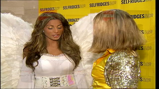 jordan promotes her new novel graphicised sequence pink star effect / jordan posing int jordan towards katie price interview sot on the way in the... - god's window stock videos and b-roll footage