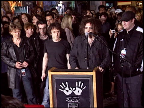 jordan schur at the The Cure Rockwalk Ceremony at Guitar Center in Hollywood California on April 30 2004