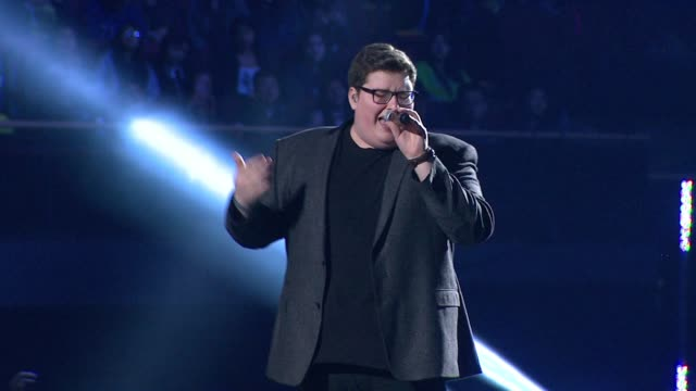 performance jordan smith at we day california at the forum on april 07 2016 in inglewood california - inglewood stock videos and b-roll footage