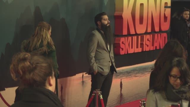 jordan vogtroberts at 'kong skull island' european premiere at cineworld leicester square on march 28 2017 in london england - キングコング 髑髏島の巨神点の映像素材/bロール