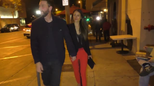 jordana brewster & andrew form outside craig's restaurant in west hollywood in celebrity sightings in los angeles, - jordana brewster stock videos & royalty-free footage