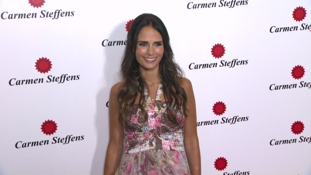 jordana brewster at hot brazilian fashion brand carmen steffens opens u.s. flagship store on 8/3/12 in los angeles, ca - jordana brewster stock videos & royalty-free footage