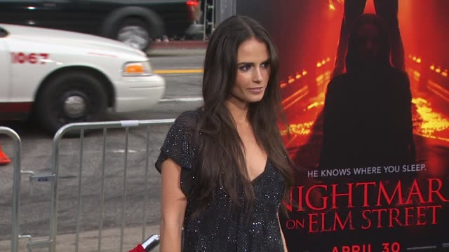 jordana brewster at the 'a nightmare on elm street' premiere at hollywood ca. - jordana brewster stock videos & royalty-free footage