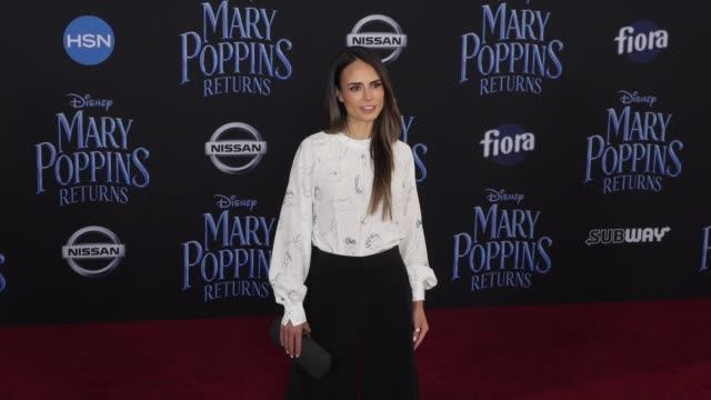"jordana brewster at the disney's ""mary poppins returns"" world premiere at dolby theatre on november 29, 2018 in hollywood, california. - jordana brewster stock videos & royalty-free footage"