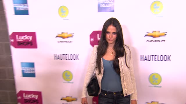 jordana brewster at the lucky magazine hosts first ever 'lucky shops at hollywood ca. - jordana brewster stock videos & royalty-free footage
