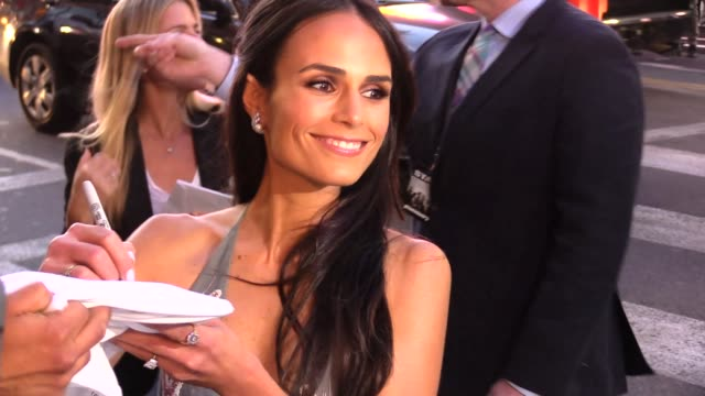 Jordana Brewster greeting fans at the Furious 7 Premiere in Hollywood in Celebrity Sightings in Los Angeles