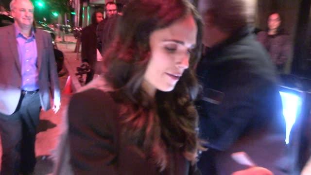 Jordana Brewster Isabella Brewster departing Craigs in West Hollywood in Celebrity Sightings in Los Angeles