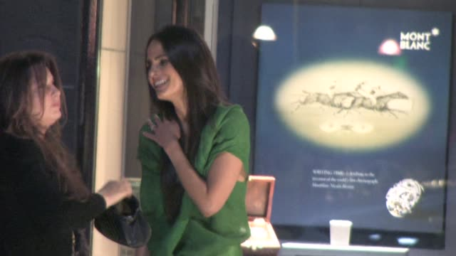 Jordana Brewster leaving Tod's in Beverly Hills at the Celebrity Sightings in Los Angeles at Hollywood CA