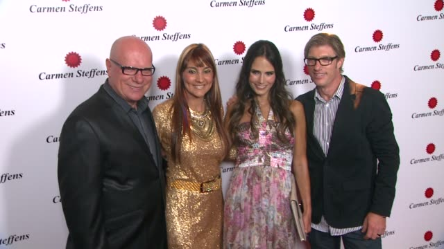 jordana brewster, mario spaniol, monalisa spaniol at hot brazilian fashion brand carmen steffens opens u.s. flagship store on 8/3/12 in los angeles,... - jordana brewster stock videos & royalty-free footage