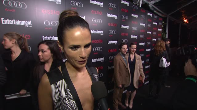INTERVIEW Jordana Brewster on awards season on her show on predictions at Entertainment Weekly Hosts Celebration Honoring the Screen Actors Guild...