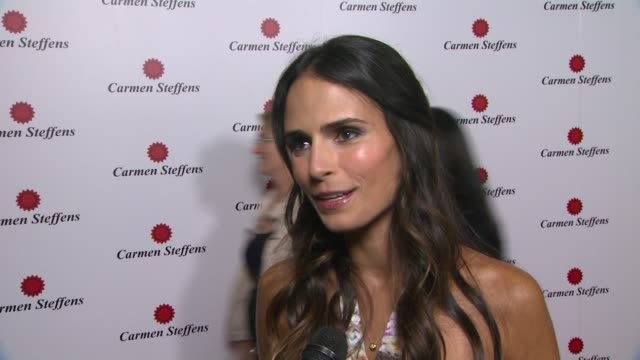 jordana brewster on being a part of the night, what she likes about the brand's shoes, her favorite summer trends, her plans for the remainder of the... - jordana brewster stock videos & royalty-free footage