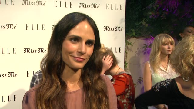 jordana brewster on her dress, on coming out tonight, on who she misses and why, on her favorite sentimental song, on her favorite look with jeans,... - jordana brewster stock videos & royalty-free footage