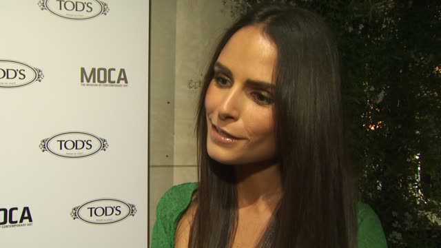 jordana brewster on why she wanted to be a part of the evening, what she appreciates about tod's, the first piece of tod's she ever owned, what she... - jordana brewster stock videos & royalty-free footage