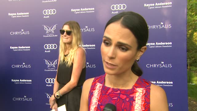 jordana brewster on why she wanted to be a part of the night, what she appreciates about the organization at 13th annual chrysalis butterfly ball in... - jordana brewster stock videos & royalty-free footage