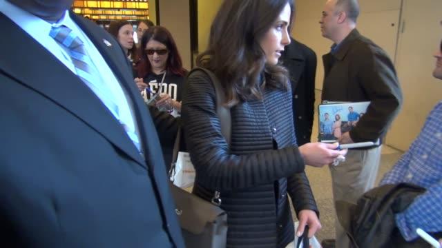 Jordana Brewster outside VH1 in New York NY on 4/8/13