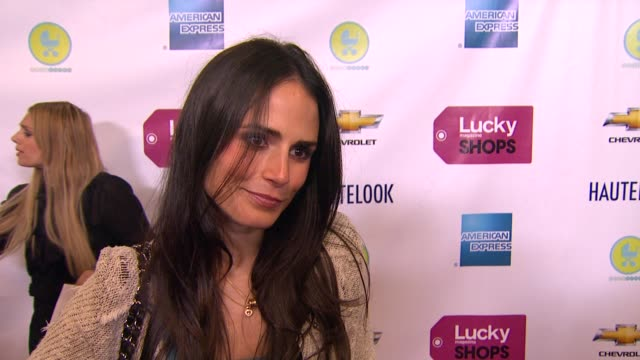 jordana brewster what brings her out, why lucky magazine is her favorite shopping magazine, the spring trends she is looking forward to wearing, if... - jordana brewster stock videos & royalty-free footage
