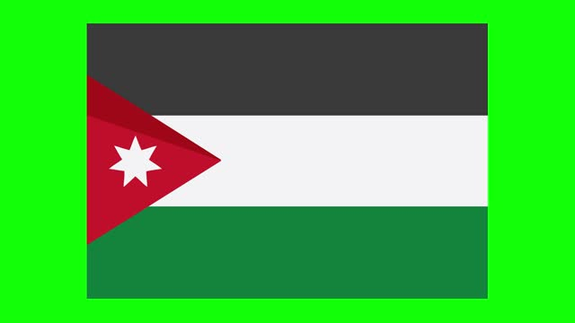 jordanian flag animation on green screen background, chroma key, loopable - politics icon stock videos & royalty-free footage