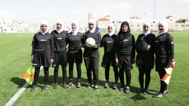 stockvideo's en b-roll-footage met jordan's first stadium reserved for women's football was inaugurated saturday in amman a first in the country as it gets ready to host the asian cup... - wereldkampioenschap sport