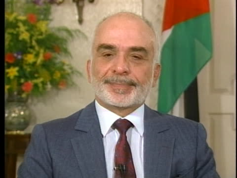 stockvideo's en b-roll-footage met jordan's king hussein discusses jordanian relations with the united states - united states and (politics or government)