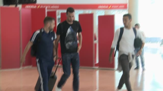 Jordi Alba Segio Busquets and Thiago
