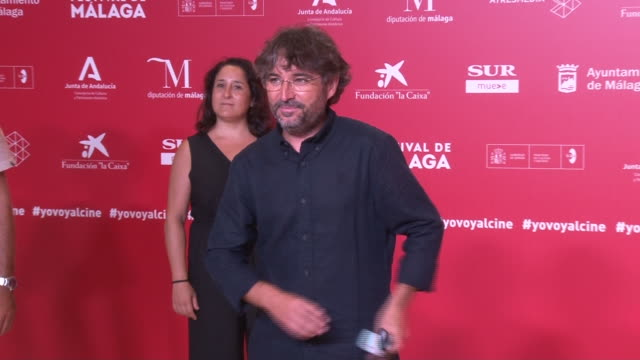 jordi evole attends the photocall on the sixth day of the malaga film festival 2020 - ドキュメンタリー映画点の映像素材/bロール