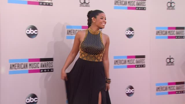 jordin sparks arrives at the 2013 american music awards arrivals - 2013 american music awards stock videos & royalty-free footage