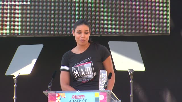 vídeos y material grabado en eventos de stock de jordin sparks at variety's 6th annual power of youth on 9/15/12 in los angeles, ca - sparks