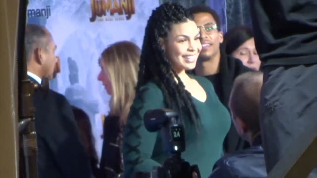 vídeos y material grabado en eventos de stock de jordin sparks outside jumanji - the next level premiere at tcl chinese theatre in hollywood in celebrity sightings in los angeles, - sparks