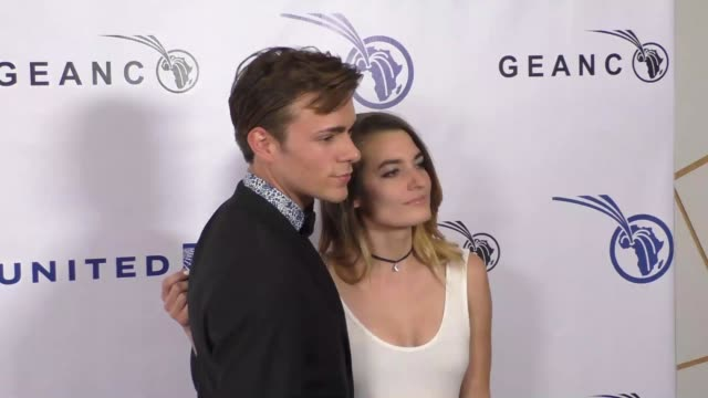 jordy tulleners and andrea martina at the geanco foundation's annual hollywood fundraiser at pacific design center in west hollywood at celebrity... - pacific design center stock videos and b-roll footage