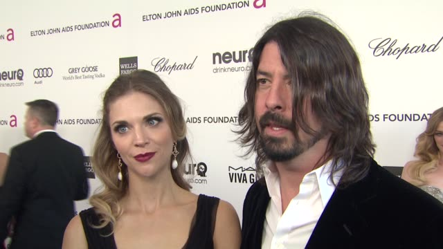 interview jordyn blum dave grohl at elton john aids foundation presents 21st annual academy awards viewing party sponsored by chopard neuro drinks... - wells fargo stock videos and b-roll footage
